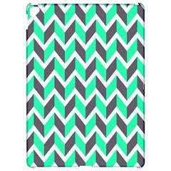Zigzag Chevron Pattern Green Grey Apple Ipad Pro 12 9   Hardshell Case by snowwhitegirl