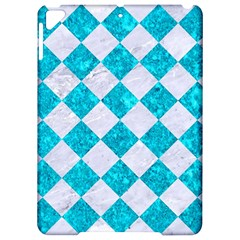 Square2 White Marble & Turquoise Marble Apple Ipad Pro 9 7   Hardshell Case by trendistuff