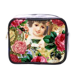 Little Girl Victorian Collage Mini Toiletries Bags by snowwhitegirl