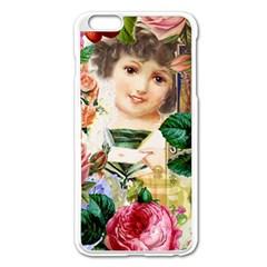 Little Girl Victorian Collage Apple Iphone 6 Plus/6s Plus Enamel White Case by snowwhitegirl