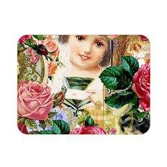 Little Girl Victorian Collage Double Sided Flano Blanket (mini)  by snowwhitegirl