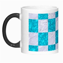 Square1 White Marble & Turquoise Marble Morph Mugs by trendistuff