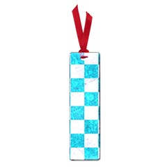 Square1 White Marble & Turquoise Marble Small Book Marks by trendistuff