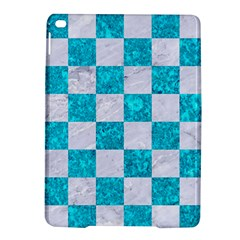 Square1 White Marble & Turquoise Marble Ipad Air 2 Hardshell Cases by trendistuff