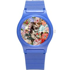 Victorian Collage Round Plastic Sport Watch (s) by snowwhitegirl
