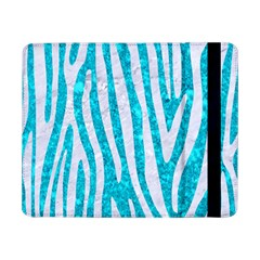 Skin4 White Marble & Turquoise Marble (r) Samsung Galaxy Tab Pro 8 4  Flip Case by trendistuff