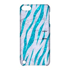 Skin3 White Marble & Turquoise Marble (r) Apple Ipod Touch 5 Hardshell Case With Stand by trendistuff
