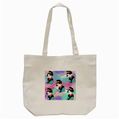 Japanese Abstract Tote Bag (cream) by snowwhitegirl