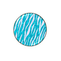 Skin3 White Marble & Turquoise Marble Hat Clip Ball Marker (10 Pack) by trendistuff