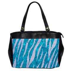 Skin3 White Marble & Turquoise Marble Office Handbags by trendistuff