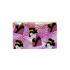 Japanese Abstract Pink Cosmetic Bag (xs) by snowwhitegirl