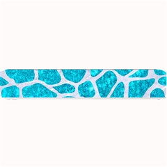 Skin1 White Marble & Turquoise Marble (r) Small Bar Mats by trendistuff