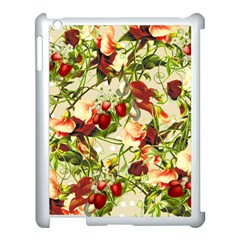 Fruit Blossom Beige Apple Ipad 3/4 Case (white) by snowwhitegirl