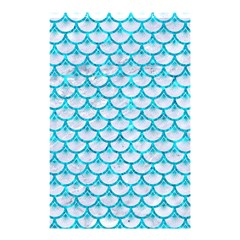 Scales3 White Marble & Turquoise Marble (r) Shower Curtain 48  X 72  (small)  by trendistuff
