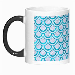 Scales2 White Marble & Turquoise Marble (r) Morph Mugs by trendistuff