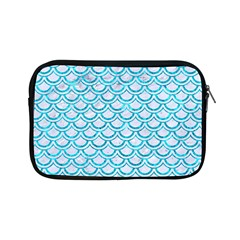 Scales2 White Marble & Turquoise Marble (r) Apple Ipad Mini Zipper Cases by trendistuff