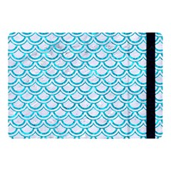 Scales2 White Marble & Turquoise Marble (r) Apple Ipad Pro 10 5   Flip Case by trendistuff