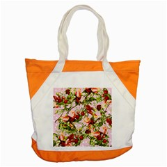 Fruit Blossom Pink Accent Tote Bag by snowwhitegirl