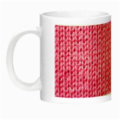 Knitted Wool Bright Pink Night Luminous Mugs by snowwhitegirl