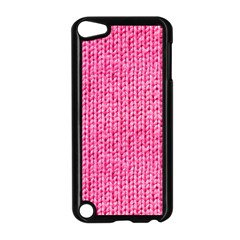 Knitted Wool Bright Pink Apple Ipod Touch 5 Case (black) by snowwhitegirl