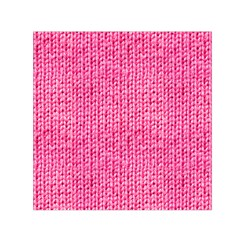 Knitted Wool Bright Pink Small Satin Scarf (square) by snowwhitegirl