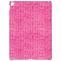 Knitted Wool Bright Pink Apple Ipad Pro 12 9   Hardshell Case by snowwhitegirl