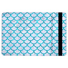 Scales1 White Marble & Turquoise Marble (r) Ipad Air 2 Flip by trendistuff