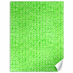 Knitted Wool Neon Green Canvas 36  X 48   by snowwhitegirl