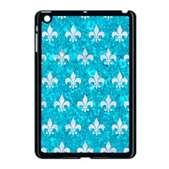 Royal1 White Marble & Turquoise Marble (r) Apple Ipad Mini Case (black) by trendistuff