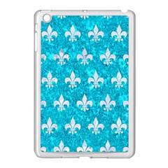 Royal1 White Marble & Turquoise Marble (r) Apple Ipad Mini Case (white) by trendistuff