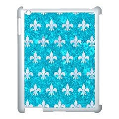 Royal1 White Marble & Turquoise Marble (r) Apple Ipad 3/4 Case (white) by trendistuff