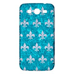 Royal1 White Marble & Turquoise Marble (r) Samsung Galaxy Mega 5 8 I9152 Hardshell Case  by trendistuff
