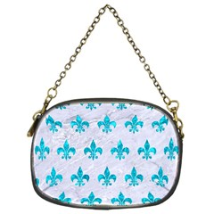 Royal1 White Marble & Turquoise Marble Chain Purses (one Side)  by trendistuff