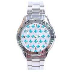 Royal1 White Marble & Turquoise Marble Stainless Steel Analogue Watch by trendistuff