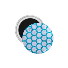 Hexagon2 White Marble & Turquoise Marble (r) 1 75  Magnets by trendistuff