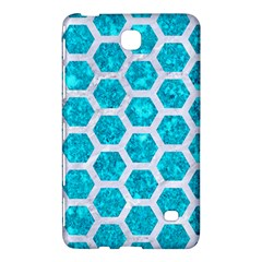 Hexagon2 White Marble & Turquoise Marble Samsung Galaxy Tab 4 (8 ) Hardshell Case  by trendistuff
