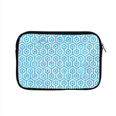 Hexagon1 White Marble & Turquoise Marble (r) Apple Macbook Pro 15  Zipper Case by trendistuff