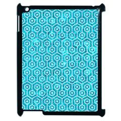 Hexagon1 White Marble & Turquoise Marble Apple Ipad 2 Case (black) by trendistuff
