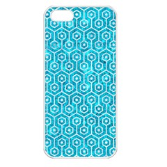 Hexagon1 White Marble & Turquoise Marble Apple Iphone 5 Seamless Case (white) by trendistuff