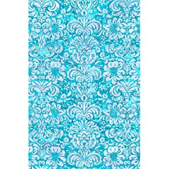 Damask2 White Marble & Turquoise Marble 5 5  X 8 5  Notebooks by trendistuff