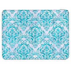 Damask1 White Marble & Turquoise Marble (r) Samsung Galaxy Tab 7  P1000 Flip Case by trendistuff