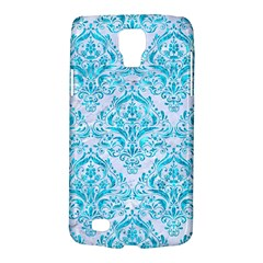 Damask1 White Marble & Turquoise Marble (r) Galaxy S4 Active by trendistuff