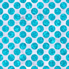 Circles2 White Marble & Turquoise Marble (r) Magic Photo Cubes by trendistuff