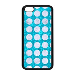 Circles1 White Marble & Turquoise Marble Apple Iphone 5c Seamless Case (black) by trendistuff