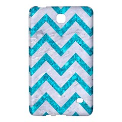 Chevron9 White Marble & Turquoise Marble (r) Samsung Galaxy Tab 4 (8 ) Hardshell Case  by trendistuff