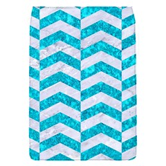 Chevron2 White Marble & Turquoise Marble Flap Covers (s)  by trendistuff