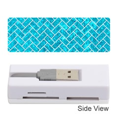 Brick2 White Marble & Turquoise Marble Memory Card Reader (stick)