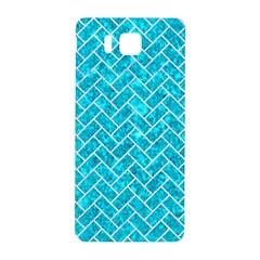 Brick2 White Marble & Turquoise Marble Samsung Galaxy Alpha Hardshell Back Case