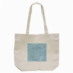 Brick1 White Marble & Turquoise Marble (r) Tote Bag (cream) by trendistuff