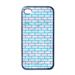 Brick1 White Marble & Turquoise Marble (r) Apple Iphone 4 Case (black) by trendistuff